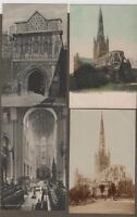 Old Postcards NORWICH Cathedral unfranked c. 1910 RP & 3 prints   (ref R2)