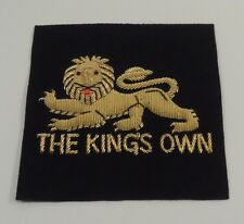 The Kings Own Blazer Badge, Army, Military, Wire, New, Embroidered, Jacket