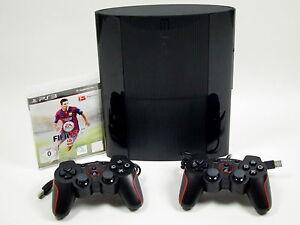 PS3-Sony-Playstation-3-Super-SLIM-Konsole-500-GB-2-Controller-amp-FIFA-15-7412