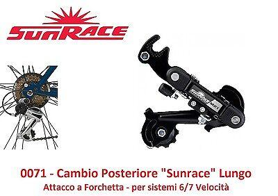 Cambio Posteriore Sunrace M2T 6//7 Veloc a Forchetta x Bici 26-28 Trekking Strada