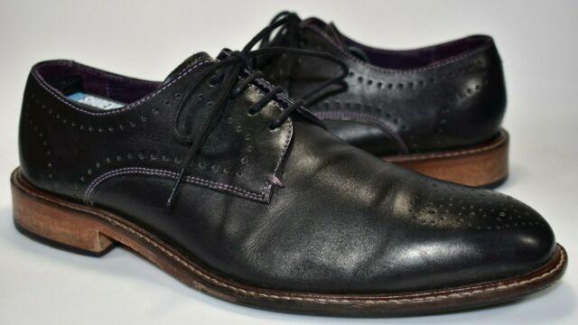 Ted Baker Mens Black Leather Oakke