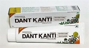 Patanjali-DANT-KANTI-Toothpaste-100g-Herbal-Ingrediants-Free-Shipping