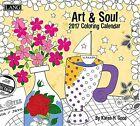 Art & Soul 2017 Wall Colouring Calendar by Lang