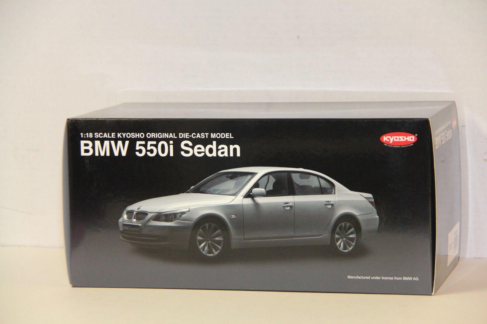 primera reputación de los clientes primero 1 18 Kyosho BMW 550i 550i 550i Sedan Perlas de Plata, Nuevo, 08594PS  Los mejores precios y los estilos más frescos.