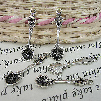 Two colors to choose floral spoon and fork design charms jewery making