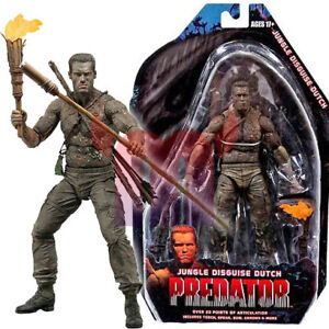 NECA-Predator-Jungle-Disguise-Dutch-7-034-Action-Figure-25th-Anniv-Series-9-New