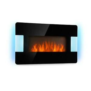 Elektrischer-Kamin-Elektrokamin-Ofen-Heizstrahler-2000W-LED-Lichteffekt-schwarz