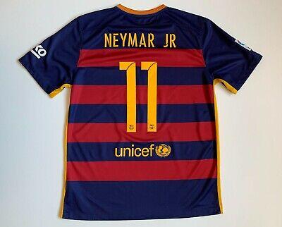 FC Barcelona # 11 Neymar JR 2015/16 Jersey Size L Football ...