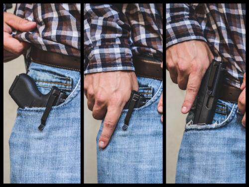 Clipdraw Belt Clip for Glock Large Frame IWB Black Ambidextrous Clip Holster