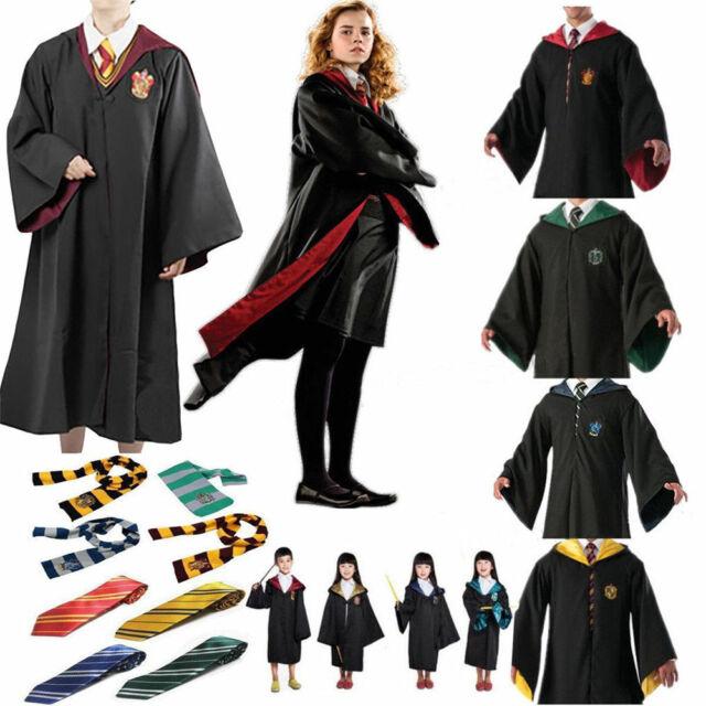 Adult Kids Harry Potter Quidditch Robe Cloak Gryffindor Slytherin Fancy Costume