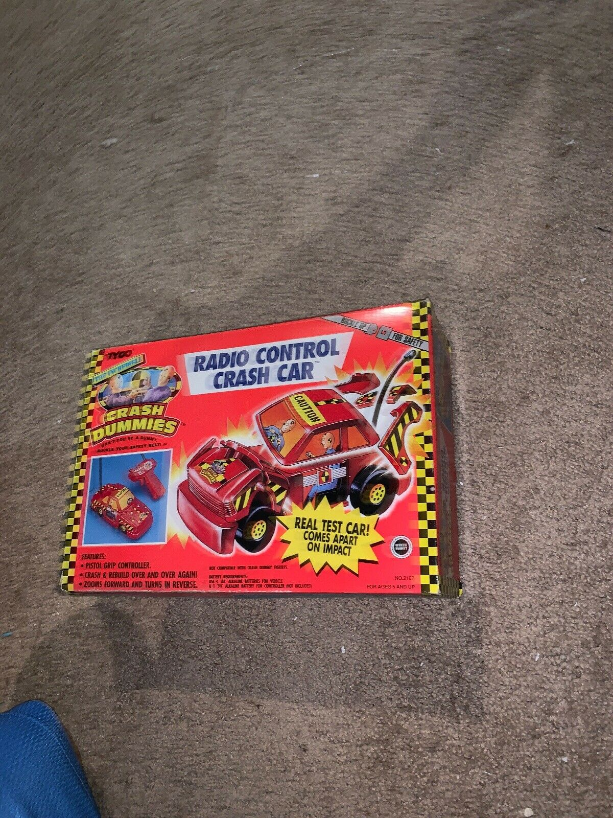 Vintage 1991  Tyco Crash Dummies Radio control Crash voiture  Figure MIB  meilleure réputation