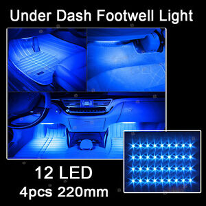blue color glow dash footwell interior light 5050 led strip lamp for cadillac ebay. Black Bedroom Furniture Sets. Home Design Ideas