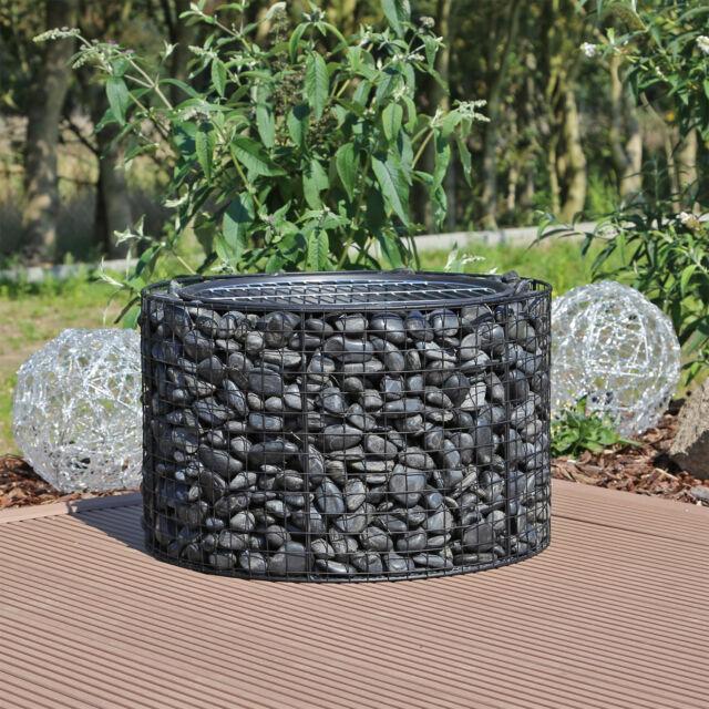 Gabionengrill Gabionen Feuerschale mit Grillrost Feuerstelle Garten Grillschale
