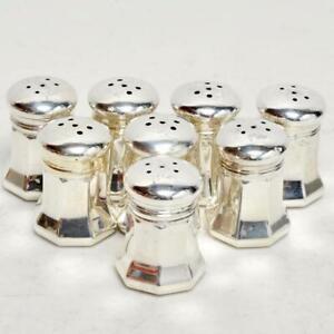 Satz (8) Cartier Sterling Silber Salz & Pfefferstreuer, markiert