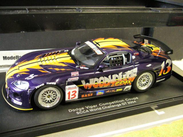 Dodge, chrysler   13 viper wettbewerb scca herausforderung, usa 2004 racing autoart 1,18