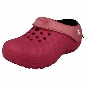 sale retailer 2c72d ee903 Details about Crocs Tembo Polatec baby Fuchsia/Pink Lemonade Slippers  (r41b)- show original title