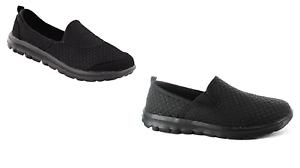 Ella-Dyan-ou-Hilary-SLIP-ON-WOMEN-039-S-mousse-a-memoire-de-Leger-Chaussures-UK-3-8