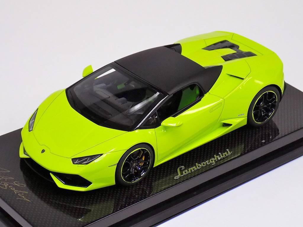 1/18 MR Collection Lamborghini Huracan Hard Soft Spider LP610 Green Carbon Base