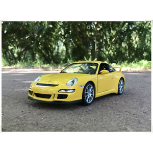 Welly-FX-1-18-Scale-Porsche-911-GT3-Yellow-Diecast-Car-Model-Collection