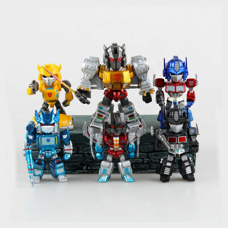6 x TRANSFORMERS OPTIMUS PRIME BUMBLEBEE ACTION FIGURE FIGURINES SET KID LED TOY