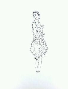 G-Klimt-original-ink-study-039-Tanzerin-der-kopf-zur-seidet-gewendet-039-1916-signed