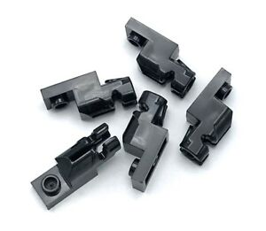 Lego-5-New-Black-Plate-Pieces-Modified-1-x-2-with-Mini-Blasters