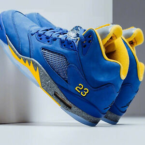 0f6081117f2cdf Nike Air Jordan 5 Laney JSP V Varsity Royal Maize Blue Men Women ...