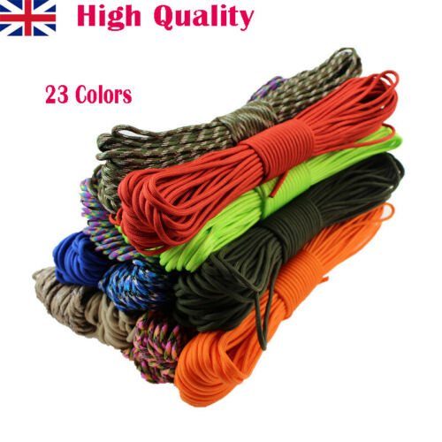 550 Paracord Parachute Mil Spec Type III 7Cord 15//31M Tent Rope Lanyard Strands