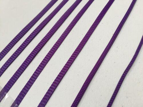 Lila Geflochten Ärmlung Kabel Kabelstrang Ummantelung Spreizhülse Viele Größen