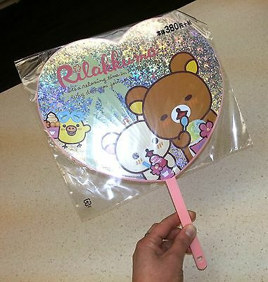 Kirakira Heart Handy Fan Rilakkuma San-X Ensky Brand New Japanese Import