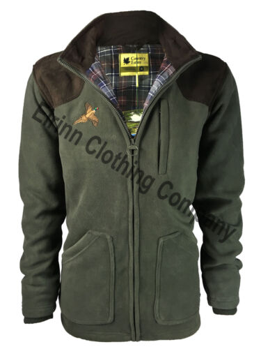 Thornton Country Estate Windproof Hunting Shooting Fleece Jacket Pheasant Motif