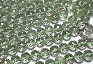 Prasiolite Beads Strand of 8 Inches