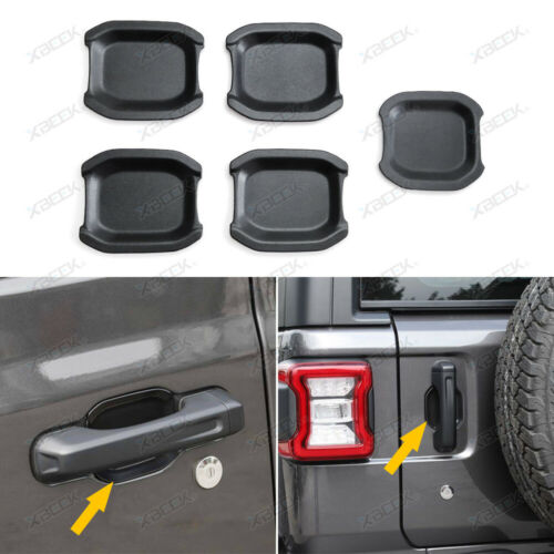 Door Handle Bowl Recess Guard Trim Cover ABS for 2018-20 Jeep Wrangler JL 4-Door