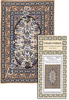 Dollhouse Rug Carpet Needlepoint or Cross Stitch Pattern Robillard Ramble