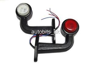 2-pieces-Rouge-Blanc-Ambre-LED-Contour-Clignotant-Feux-de-position-lampes