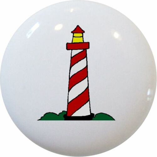 Red LIGHTHOUSE Nautical Cabinet DRAWER Pull KNOB New