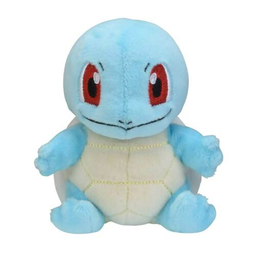 4 ¾ In. 2019 New  Pokemon Center Original Squirtle Sitting Cuties Plush Gift