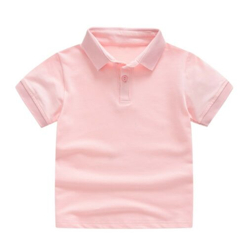 Toddler Kids Baby Girl Boy Short Sleeve Classic Solid T-shirt Tee Tops Clothes