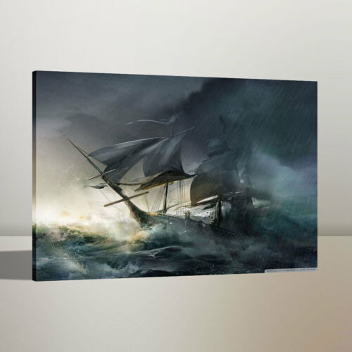 Print Art Oil Painting Pirates of The Caribbean Home Wall Decor on Canvas 16x22