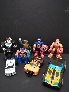 Lot Of Super Heros and Transformers toys. Cap America, Iron Man, Ninja Turtle...