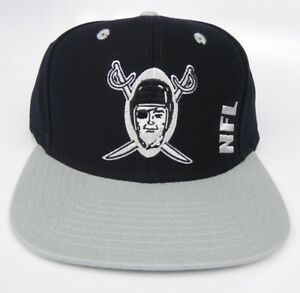 6cf08e81d8b Image is loading OAKLAND-RAIDERS-NFL-VINTAGE-SNAPBACK-RETRO-FLAT-BILL-