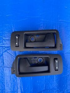 Interior Door Handle For 2005-2014 Ford Mustang Front Black Silver