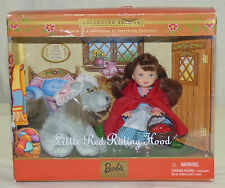 Barbie Collectibles Storybook Kelly Little Red Riding Hood & Wolf Doll Set w COA