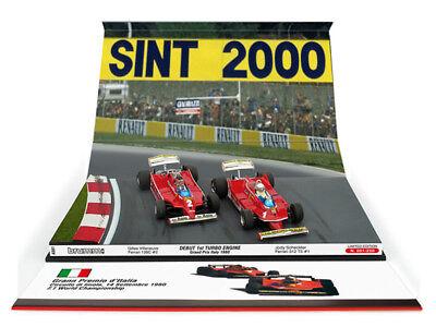 Ferrari 312 T5 GP Monaco 1980 Gilles Villeneuve #2 Brumm 1:43 R577 Model