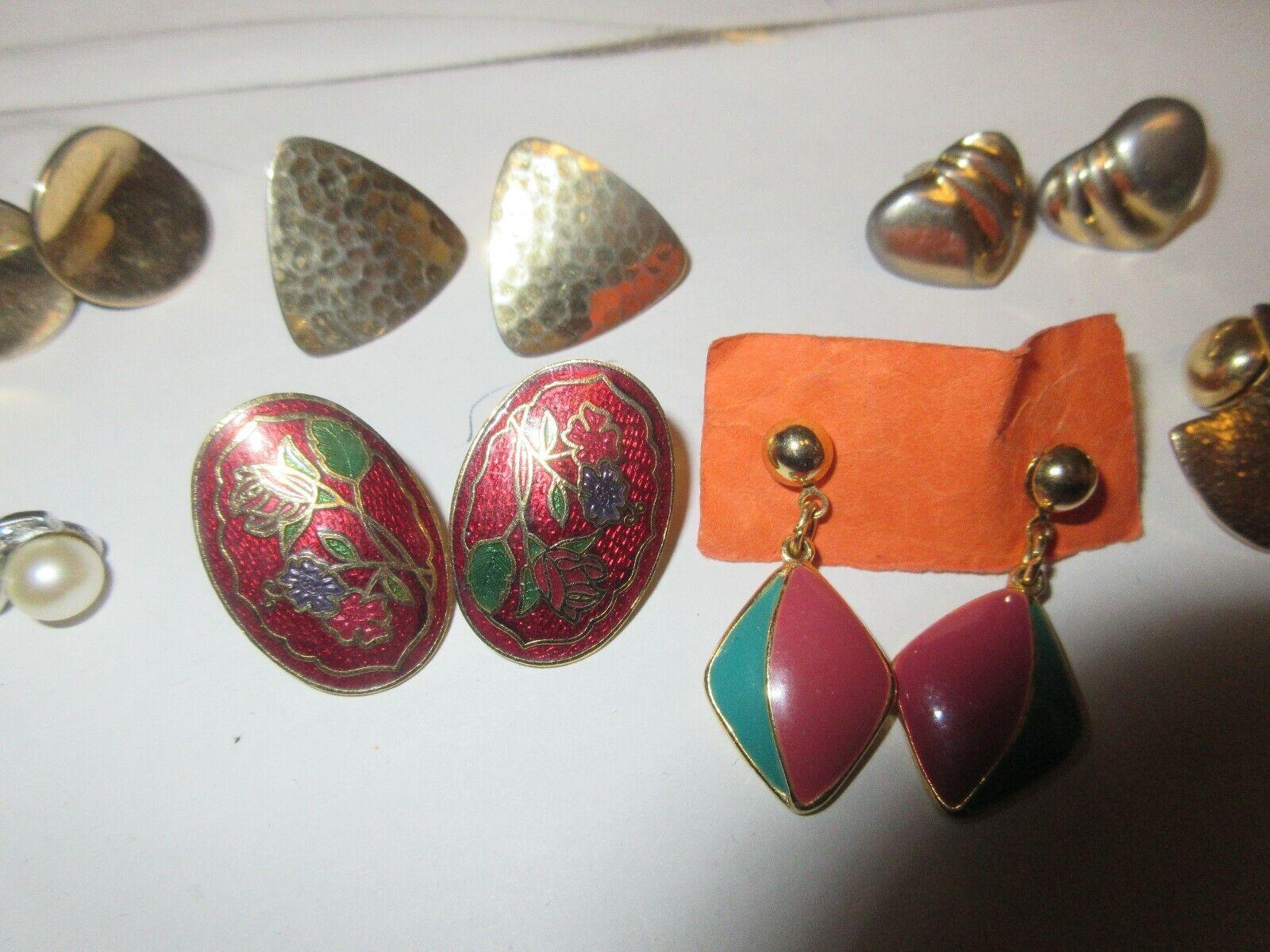 Costume Jewelry, Earrings , 9 Pair Lot
