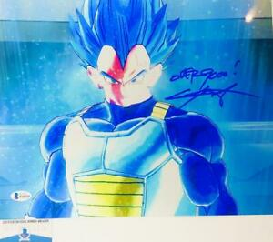 Chris-Sabat-signed-VEGETA-11X14-METALLIC-photo-BAS-COA-WAO4928