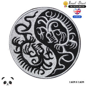 YIN-YANG-Dragon-Embroidered-Iron-On-Sew-On-Patch-Badge