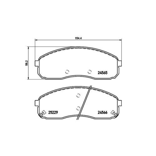 Textar Bremsbeläge vorne Kia Carnival II 2,5 V6 2,9 CRDi ab Baujahr 10//2001