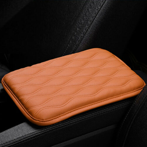 Functional Car Armrest Pad Center Console Dust-proof PU Leather Mat Universal