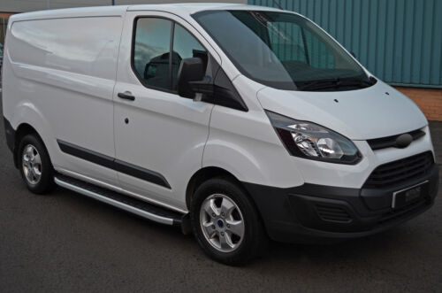 2012+ SWB Ford Transit Custom BARRE di alluminio laterali passi Pedane per adattarsi